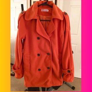 Orange Frieze Coat